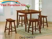 Kyoto Counter Height 5 Pc Set by Crown Mark