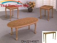Oak Cocktail Table Set/3 by Crown Mark