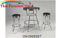 Retro Bar Table and 2 Barstools by Crown Mark
