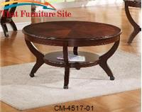 Brownstown Round Coffee Table by Crown Mark