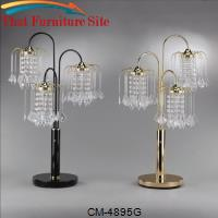 "Rain Drop Table Lamp 31""H Gold by Crown Mark"
