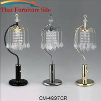 "Rain Drop Table Lamp 27""H Chrome by Crown Mark"