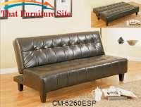 Marco Futon Espresso by Crown Mark