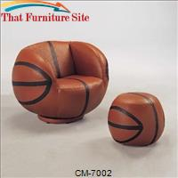 Basket Chair and Ottoman by Crown Mark
