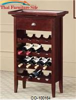 Accent Racks 16 Bottle Wine Rack with Serving Tray Top by Coaster Furniture
