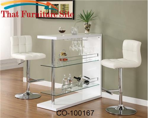 Bar Table (White) by Coaster Furniture  | Austin