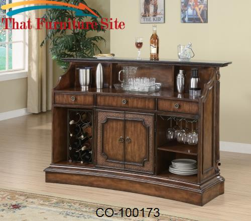 Clarendon Traditional Bar with Marble Top by Coaster Furniture  | Aust