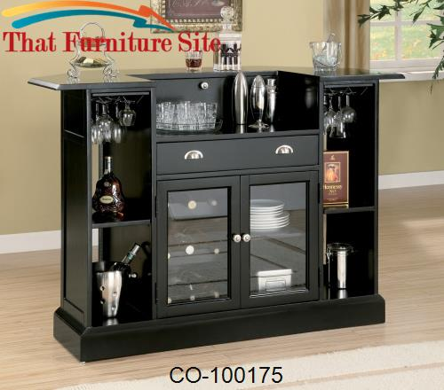 Inwood Contemporary Bar with Wine Rack and Stemware Storage by Coaster