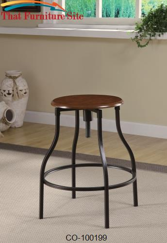 Dining Chairs and Bar Stools Adjustable Bar Stool with Durable Metal F