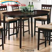 Mix & Match Oval Counter Height Dining Table by Coaster Furniture