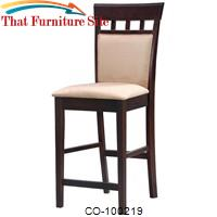 "Mix & Match 24"" Upholstered Panel Back Bar Stool with Fabric Seat by Coaster Furniture"