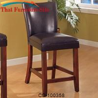 "Telegraph 24"" Faux Leather Bar Stool by Coaster Furniture"