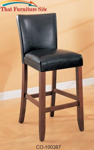 "Telegraph 29"" Faux Leather Bar Stool by Coaster Furniture  