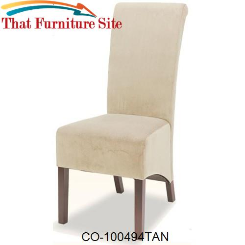 Dining Chairs and Bar Stools Rolled Back Parson Dining Chair by Coaste