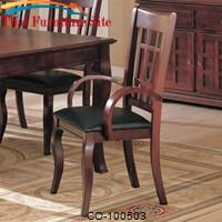 Newhouse Arm Chair with Faux Leather Seat by Coaster Furniture