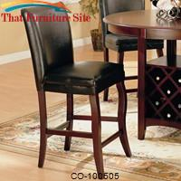 "Newhouse 24"" Bar Stool with Faux Leather Seat and Back by Coaster Furniture"