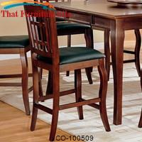 "Newhouse 24"" Bar Stool with Grid Back and Faux Leather Seat by Coaster Furniture"