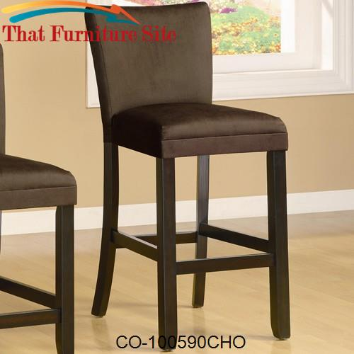 "Bloomfield 29"" Microfiber Bar Stool by Coaster Furniture  