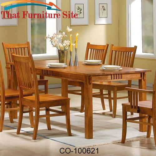 Marbrisa Rectangular Leg Dining Table by Coaster Furniture  | Austin