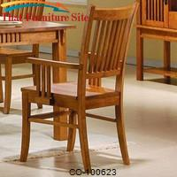 Marbrisa Slat Back Mission Arm Chair by Coaster Furniture