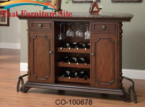 100670 Traditional Bar Unit with Marble Top by Coaster Furniture  | Au
