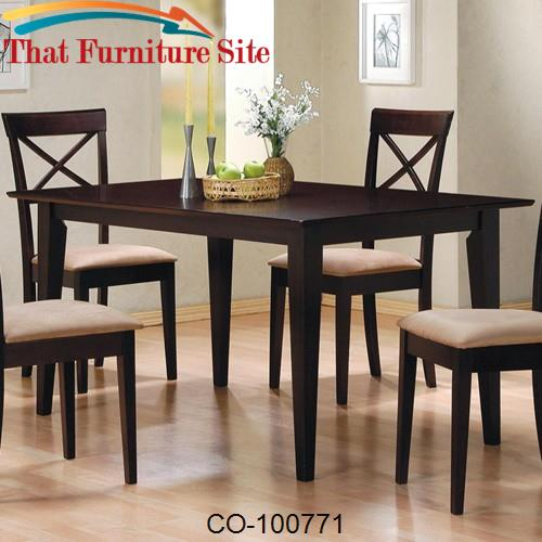 Mix & Match Rectangle Leg Dining Table by Coaster Furniture  | Austin