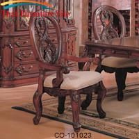 Nottingham Carved Arm Chair with Cabriole Legs by Coaster Furniture