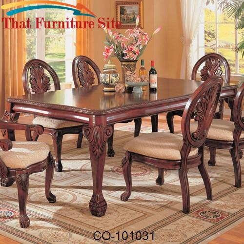 Tabitha Traditional Rectangular Dining Table by Coaster Furniture  | A