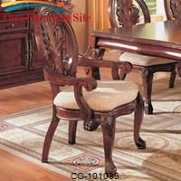 Tabitha Traditional Dining Arm Chair by Coaster Furniture