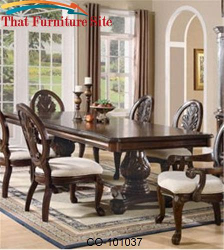 Tabitha Traditional Rectangular Double Pedestal Dining Table by Coaste