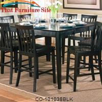 Pines Counter Height Dining Leg Table with Leaf by Coaster Furniture