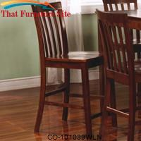Pines Counter Height Slat Back Chair by Coaster Furniture