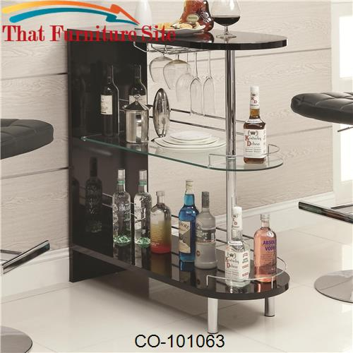 Bar Units and Bar Tables Contemporary Black Bar Table by Coaster Furni