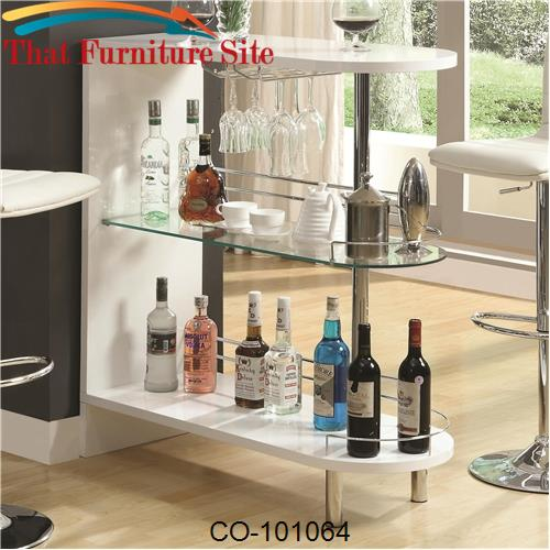 Bar Units and Bar Tables Contemporary White Bar Table by Coaster Furni