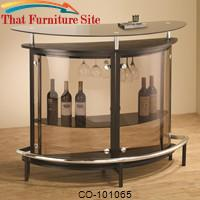 Bar Units and Bar Tables Contemporary Bar Unit with Smoked Acrylic Front by Coaster Furniture