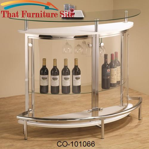 Bar Units and Bar Tables Contemporary Bar Unit with Clear Acrylic Fron