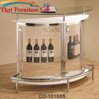 Bar Units and Bar Tables Contemporary Bar Unit with Clear Acrylic Front by Coaster Furniture