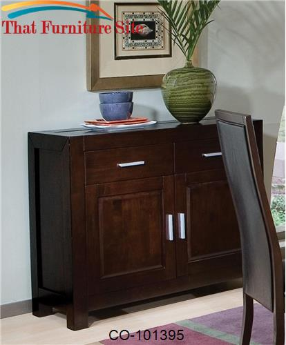 Morningside Contemporary Server with Doors and Drawers by Coaster Furn