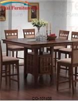 Mix & Match Counter Height Dining Table with Storage Pedestal Base by Coaster Furniture