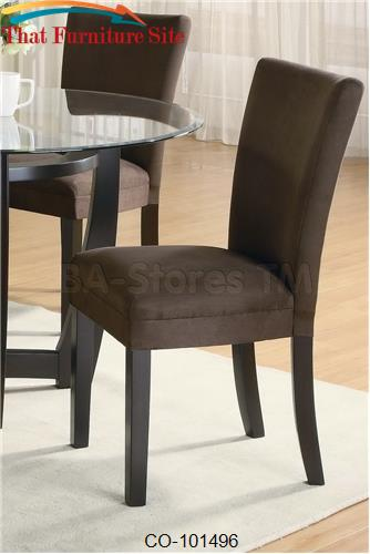 Bloomfield Chocolate Parson Chair by Coaster Furniture  | Austin
