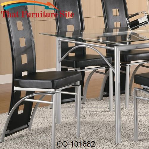 Los Feliz Black Metal Dining Chair by Coaster Furniture  | Austin