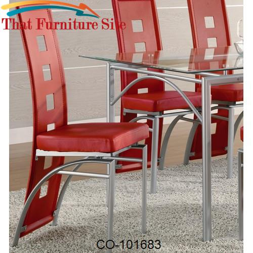 Los Feliz Red Contemporary Dining Chair by Coaster Furniture  | Austin