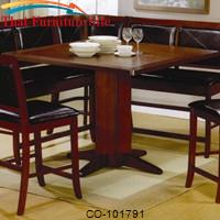 Lancaster Counter Height Pedestal Table by Coaster Furniture