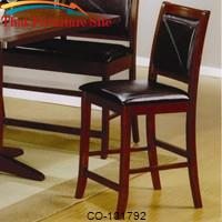 "Lancaster 24"" Counter Height Bar Stool with Faux Leather Back and Seat by Coaster Furniture"