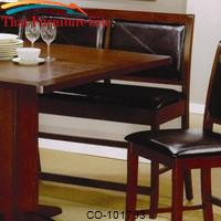 Lancaster Counter Height Dining Bench with Faux Leather Back and Seat by Coaster Furniture