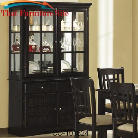 & Baldwin Buffet u0026 Hutch with 2 Glass Doors by Coaster Furniture | Aust