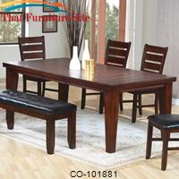 "Imperial Rectangular Dining Table with 18"" Leaf by Coaster Furniture"