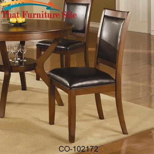 Nelms Side Chair with Upholstered Seat and Back by Coaster Furniture