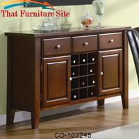 Rodeo Server with Wine Rack by Coaster Furniture