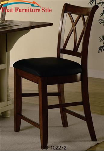 "Dining Chairs and Bar Stools 24"" Wood Bar Stool with Upholstered Seat"